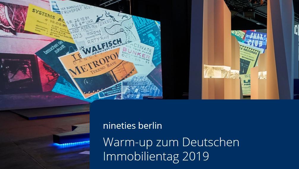 Warmup zum Deutschen Immobilientag 2019 in Berlin