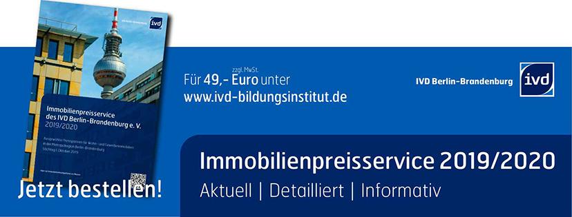 IVD Berlin-Brandenburg veröffentlicht Preisservice 2019/2020