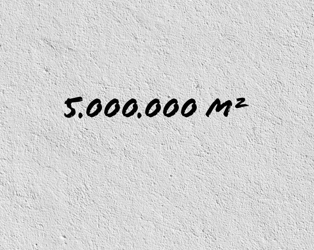 Zahl des Monats:5 Millionen Quadratmeter 1
