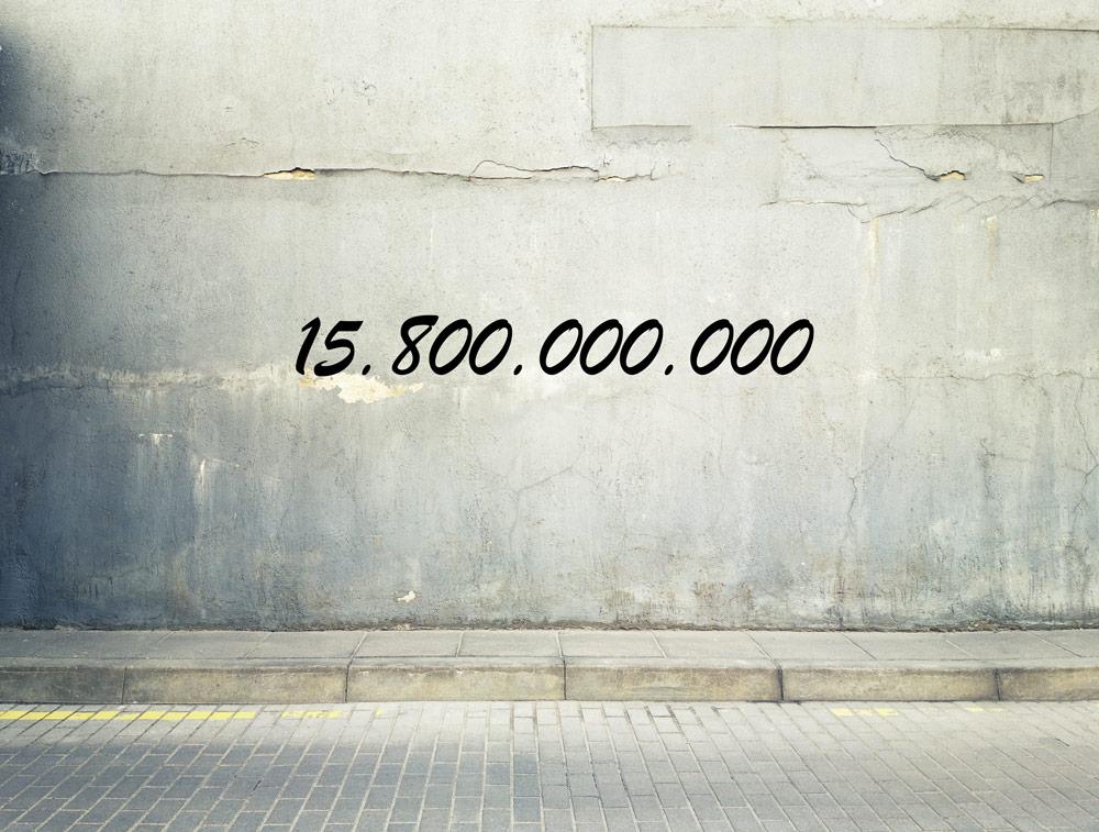 Zahl des Monats:15.800.000.000 1