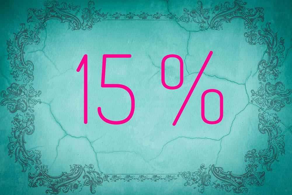 Zahl des Monats August: 15 Prozent 1